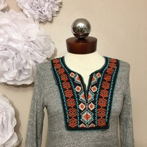 Papermoon Tille Embroidery Knit Top stitchfix XS